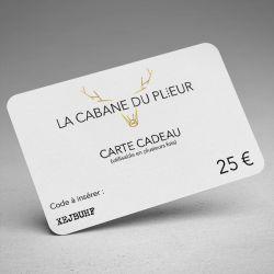 Carte cadeau - 25 €