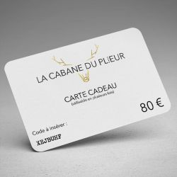 Carte cadeau - 80 €